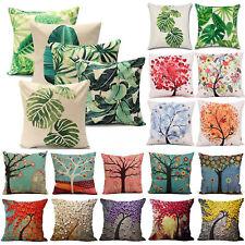 Outdoor Floral Leaf Cotton Cushion Garden Waterproof Pillow Case Cover Decor US
