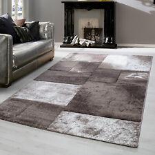 Teppiche modern designer Kurzflor meliert kariert Sand Motiv 3 D Konturenschnitt
