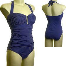 Beachcomber Premier Collection Arricciato A Fascia/Halter Costume da bagno blu navy francese 12-24