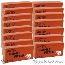 Filter 6mm Aktivkohle-Filter WHITE ELEPHANT Pfeifenfilter Pfeife Zigaretten Slim