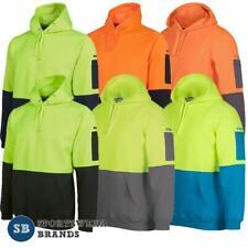 Mens Hi Vis Pullover Jumper Hoodie Safety Workwear Size XS-5XL Warm Hoody 6HVPH