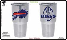 Buffalo Bills (Set of 2) Vinyl Decals for Yeti Tumbler NFL Fans Car Cornhole NEW