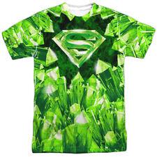 Superman Kryptonite Shield Mens Sublimation Polyester Shirt White