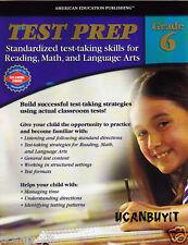 80pg TEST PREP Test Taking Skills for Reading, Math, Language Arts Workbook Gr 6