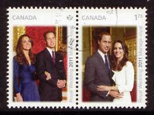 CANADA 2011 WILLIAM AND CATHERINE ROYAL WEDDING PAIR FU