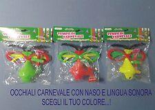 CARNEVALE OCCHIALI SCHERZETTO VISO 3 MODELLI SCEGLI IL TUO COLORE...PARTY FESTA