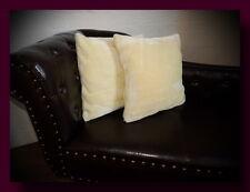 Kissen Kissenhülle Dekokissen im Glanz - Design Farbe vanille / gelb
