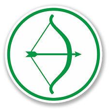2 X de tiro con arco Etiqueta Auto Moto Ipad Laptop Arco Y Flecha objetivo Robin Hood # 4187