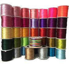 Rattail Cord, 1mm Nylon, Satin Cord,  Thread Macrame Shamballa Kumihimo  (H)