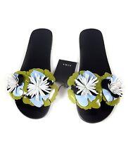 Zara Black Floral Slides Size 38