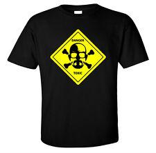 T SHIRT WALTER WHITE DANGER TOXIC BREAKING BAD INSPIRED TEE HEISENBERG METH