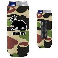 Beer Bear Magnetic Slim (12oz) Can Coolie Neoprene Collapsible