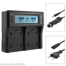 LCD Display Dual Digital Battery Charger NIKON EN-EL14 EN-EL15 EN-EL3E EN-EL20