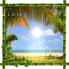 Sticker mural déco bambou Maldives réf 897