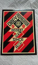 """Obey Propaganda, Dissent Mfg., Since 1989, Size 5-1/4"""" x 4"""""""