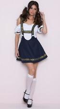 Women's Bavarian Dirndl Trachten Dress German Oktoberfest Beer Girl Costume