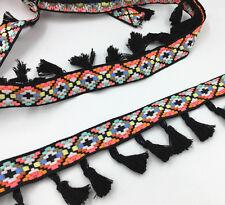5 Yards unilateral Tassel lace Trim Diamond lattice Wedding Ribbon Sewing Crafts