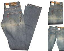 denim levi's 558 slim leg jeans donna levis vita bassa strappati blu w26 w27