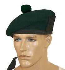 pura lana BALMORAL CAPPELLO TUBO GRUPPO headwar Kilmarnock verde senza disegni