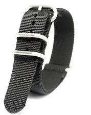 Praetorian® DiverTec Extrem Nato / Zulu Armband Schwarz - Durchzugsband