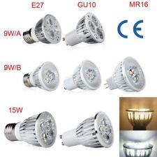 NEW E27 GU10 MR16 High Power 9W 15W LED Dimmable Bulb Light Spot Lamp Warm/White