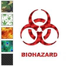 Bio Hazard Symbol Decal Sticker Choose Pattern + Size #111