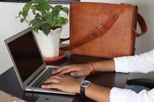 Men's Genuine Leather Vintage Laptop Messenger Notebook Briefcase Bag Satchel