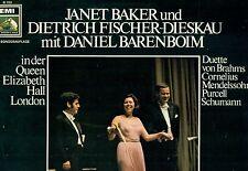 JANET BAKER DIETRICH FISCHER-DIESKAU DANIEL BARENBOIM BRAHMS CORNELIUS LP L8720