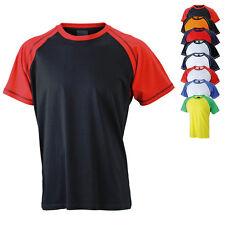 James & Nicholson Herren T-Shirt MEN`S RAGLAN-T S M L XL XXL 3XL Neu JN010