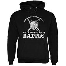 Die In Battle Black Adult Hoodie