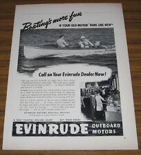 1942 Vintage Ad Evinrude Outboard Motors Milwaukee,WI