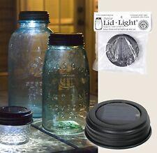New! BROWN SOLAR Powered Mason Canning Fruit Ball Jar LED LID LIGHT Rustic Lamp
