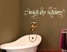 Wandtattoo Reich der Schäume Bad Sprüche Wandaufkleber uss094 Badezimmer