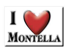 CALAMITA CAMPANIA ITALIA FRIDGE MAGNET MAGNETE SOUVENIR I LOVE MONTELLA (AV)