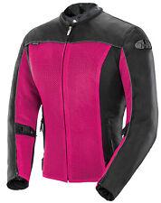 Joe Rocket Womens Pink/Black Velocity Textile Mesh Motorcycle Jacket