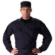 Rothco 6110 Navy Blue Military Tactical Gear BDU Epaulet Uniform Fatigue Shirt