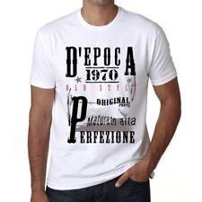 1970, vintage tshirt, D'epoca Tshirt,  Tshirt uomo bianco, regalo Tshirt