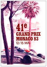 Monaco Gp 1983 carrera de impresión