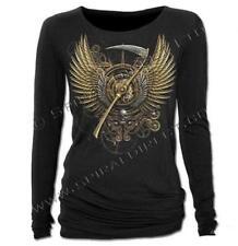 DTO. -20% ! Camiseta Chica SPIRAL Steampunk Reaper Manga Larga -WM120307- Rock,