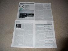 Luxman KX-102 Cassette Review, 4 pg, 1984, Ultimate Deck! Full Test, Specs, Info