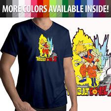 Difficult Bowel Anime Parody Funny Goku Anime Mens Unisex Top Tee V-Neck T-Shirt