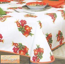 VINGI Ricami. Tablecloth Table Rectangular + Napkins 12 Places Real Pomegranate