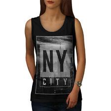 NY city Moda Donna Tank Design Top NUOVO   wellcoda