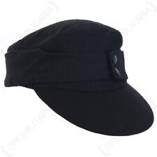 WW2 Repro German Panzer Crea M43 Ski Cap - Black Sun Peak Hat Soldier Uniform
