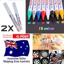 2 PCS Waterproof Rubber Permanent Paint Marker Pen Car Tyre Tire Tread Australia