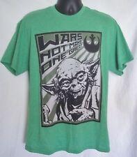 Star Wars YODA Wars Not Make One Great Men's T-Shirt Green Sz Large OR XL