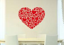 Large Wall Heart Art Vinyl Sticker, Home DIY Wall Sticker Decal HIGH QUALITY