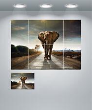 Elephant Safari Landscape Giant Wall Art Poster Print