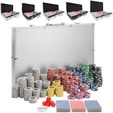 Maletín Póker set de aluminio con fichas láser poker chips + accesorios