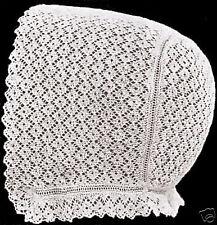 Vintage Antique Baby Cap Hat Bonnet Knitting Pattern P